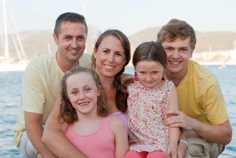 de groep van de familievakantie stock fotografie