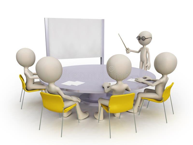 De groep van de leraar en van de student vector illustratie