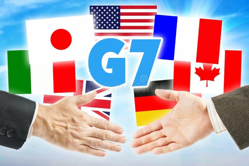 De Groep van G7 Zeven royalty-vrije stock afbeelding