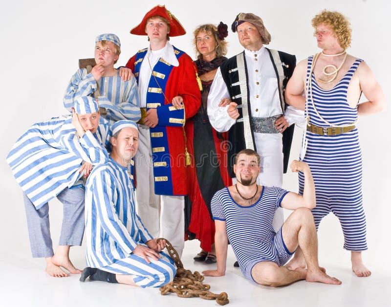 De Groep van het theater stock foto