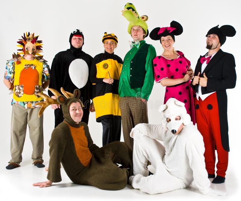 De Groep van het Vermaak van het theater royalty-vrije stock afbeeldingen