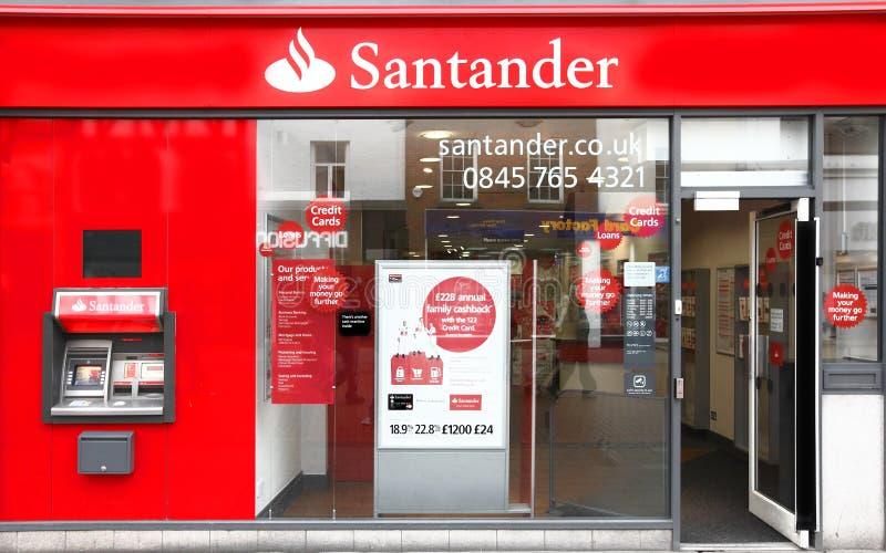 De Groep van Santander bank stock afbeeldingen