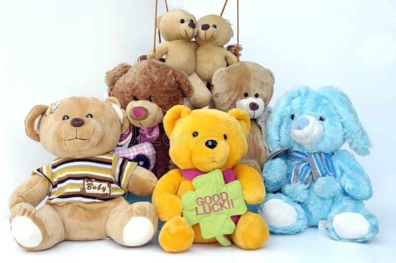 De Groep van Teddies stock afbeeldingen