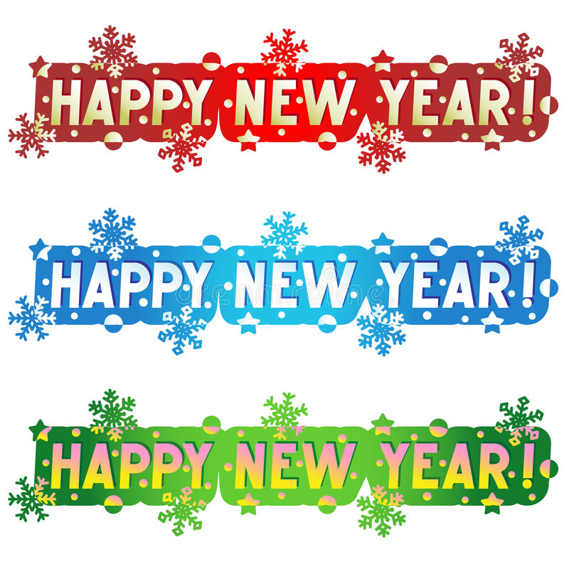 De groet van de vakantie - Gelukkig Nieuwjaar! stock illustratie