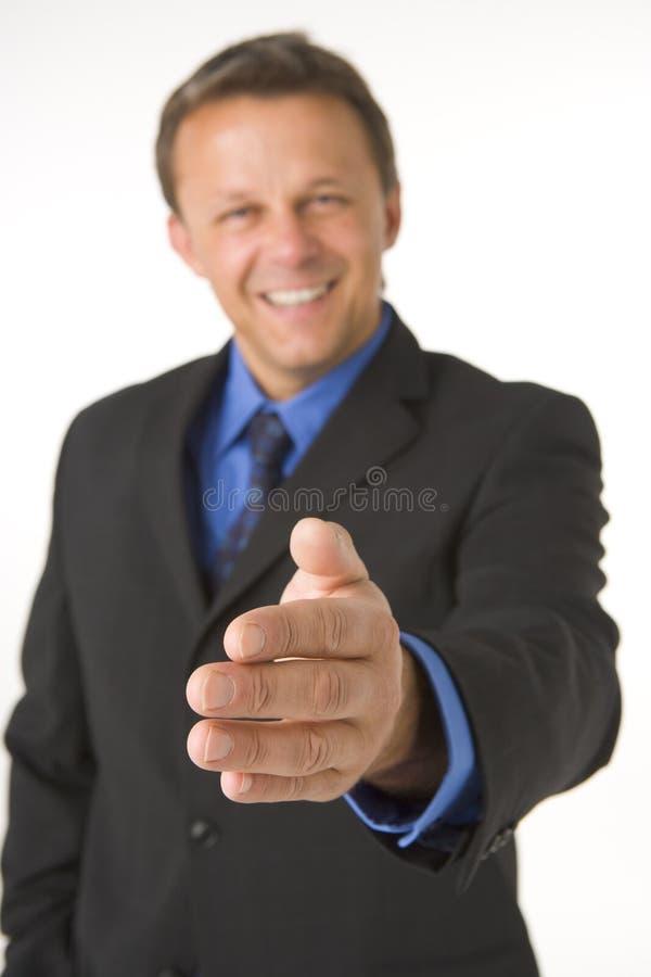 De Groet van de zakenman stock foto