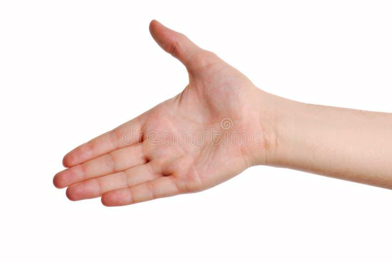 De groet van het gebaar stock afbeelding