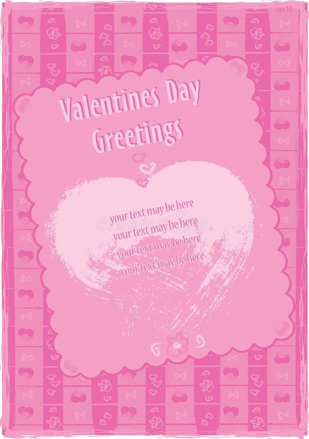 De Groeten van de Dag van de valentijnskaart stock afbeeldingen