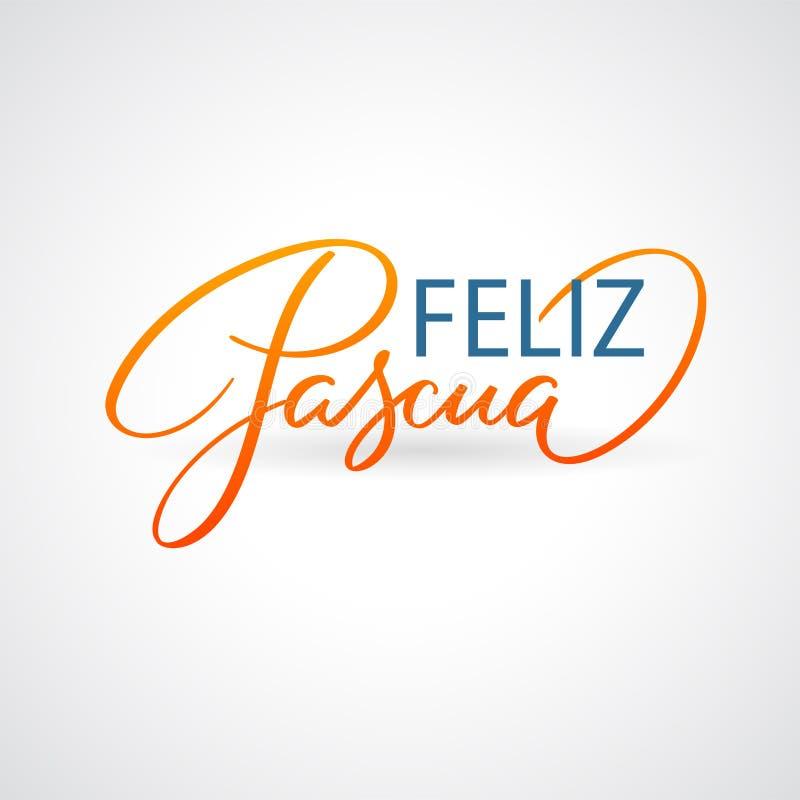 De groeten van Feliz Pascuas - Pasen-op het Spaans royalty-vrije illustratie