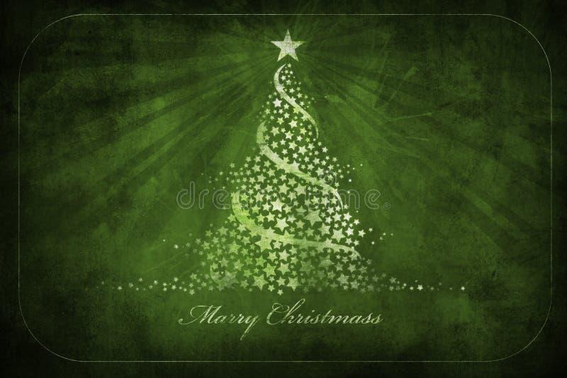 De groetenkaart van Kerstmis grunge stock illustratie