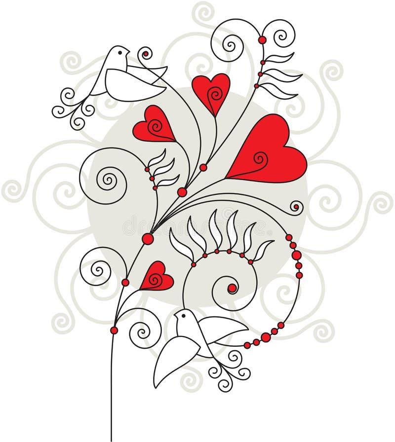 De groetkaart 04 van de valentijnskaart vector illustratie