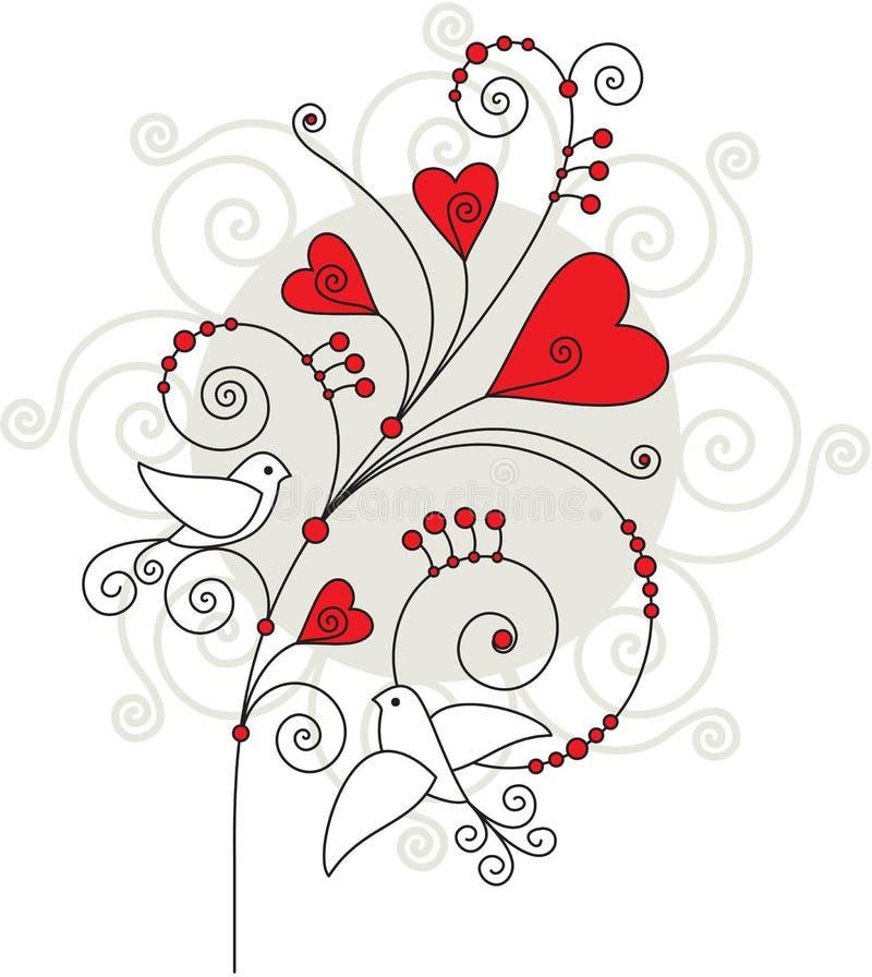 De groetkaart 05 van de valentijnskaart stock illustratie