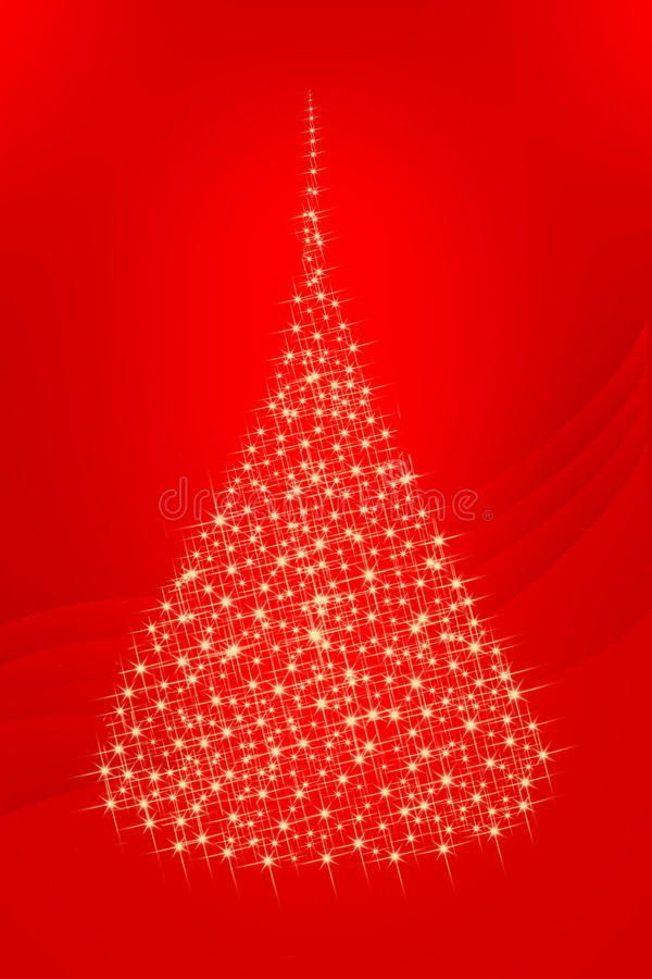 De groetkaart 1 van de kerstboom stock fotografie