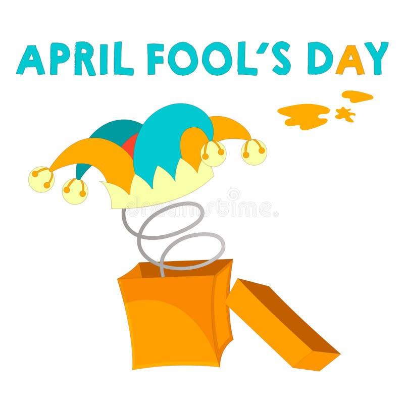 De groetkaart April voor de gek houdt grap royalty-vrije illustratie