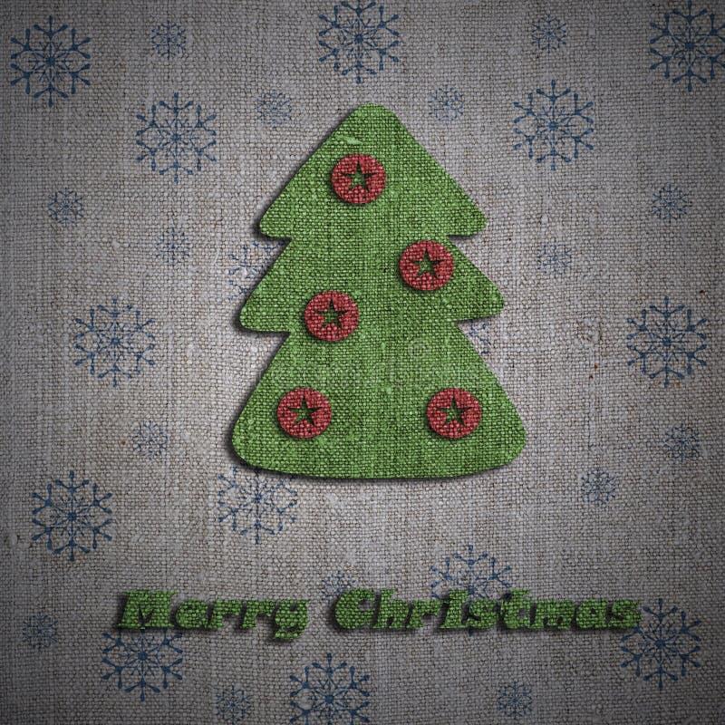 De groetkaart van de kerstboom stock afbeelding