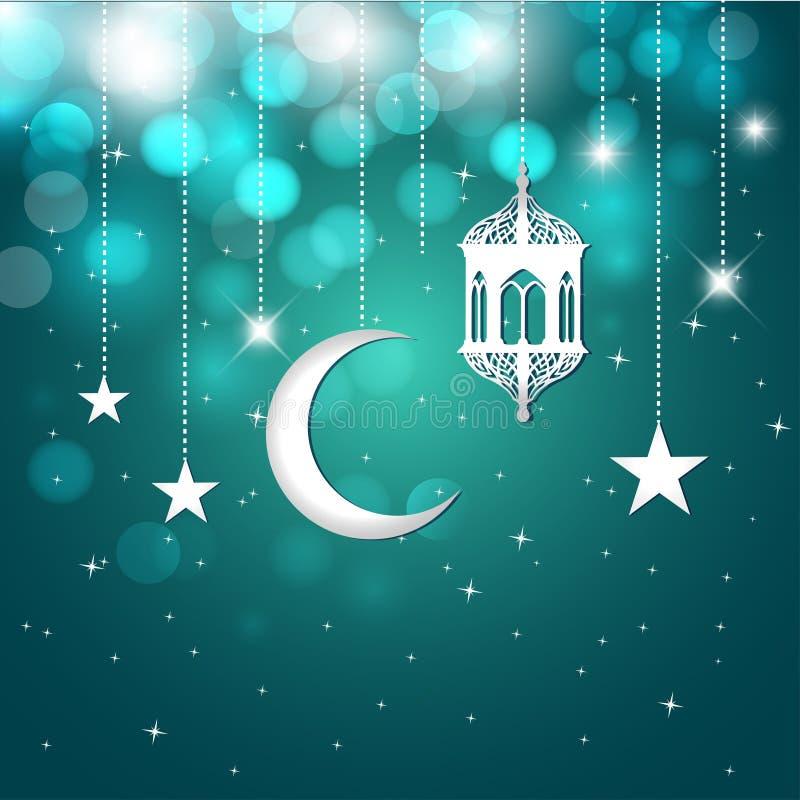 De groetkaart van de Ramadan vector illustratie