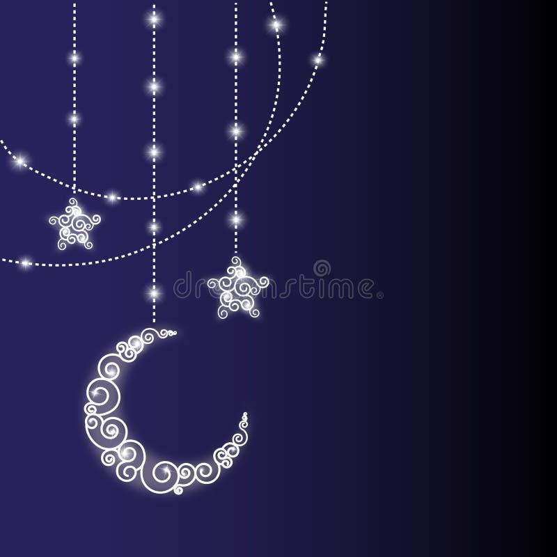 De groetkaart van de Ramadan royalty-vrije illustratie