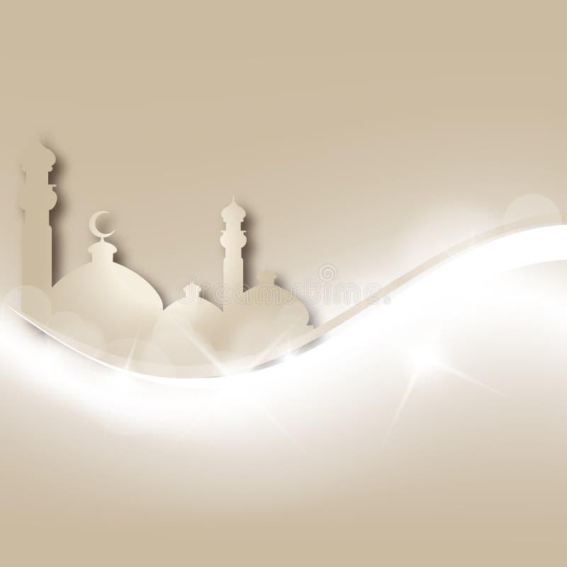 De groetkaart van de Ramadan stock illustratie