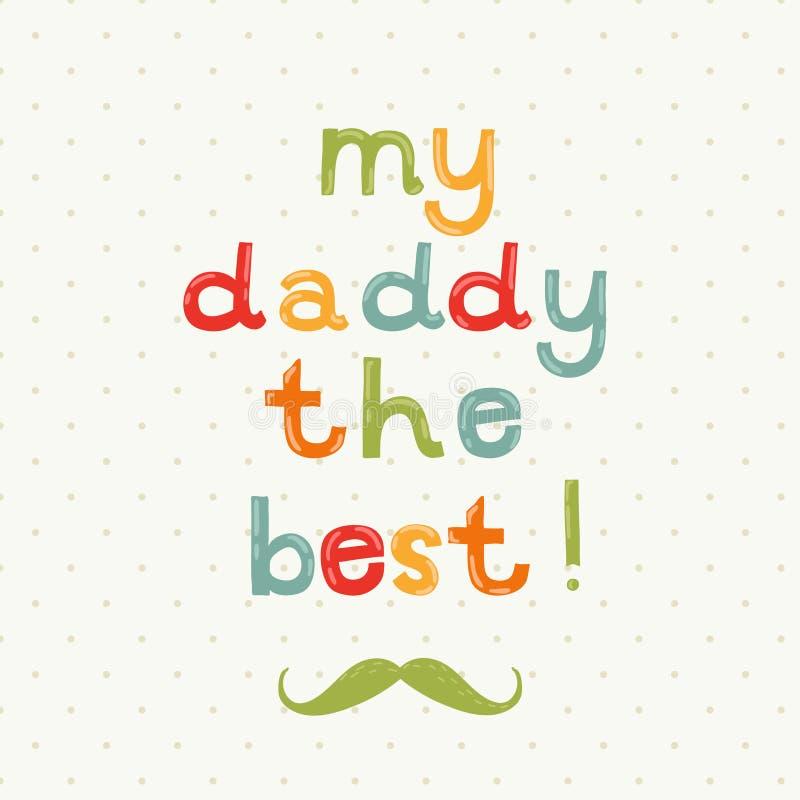 De groetkaart van de vaderdag vector illustratie