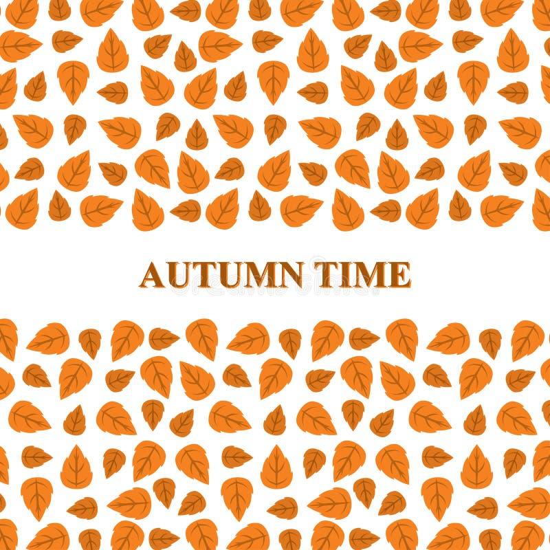 De groetkaart van de herfstbladeren royalty-vrije illustratie
