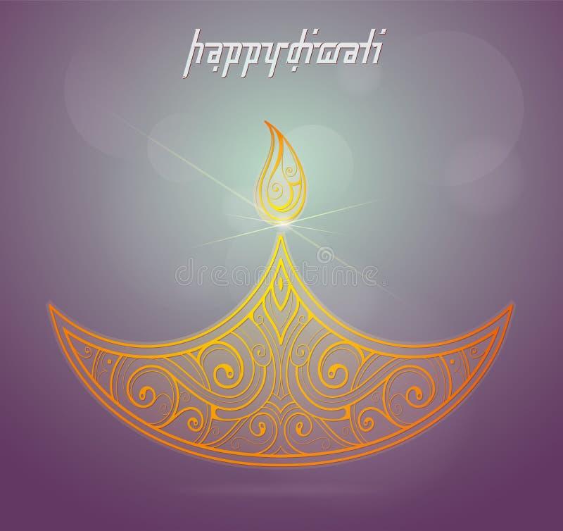 De groetkaart van het Diwali Indische festival royalty-vrije illustratie