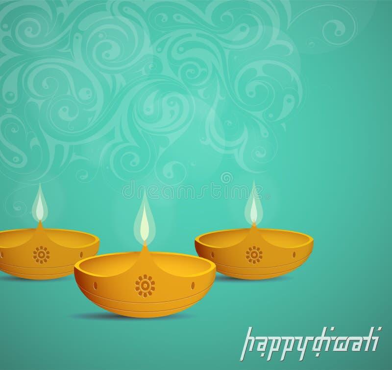 De groetkaart van het Diwalifestival stock illustratie