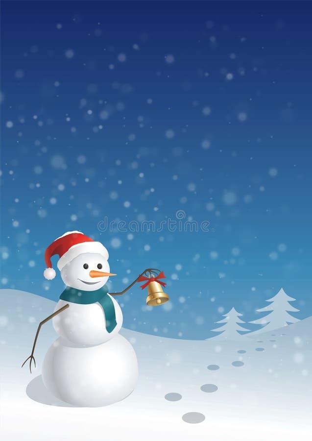 De groetkaart van Kerstmis (1) stock illustratie