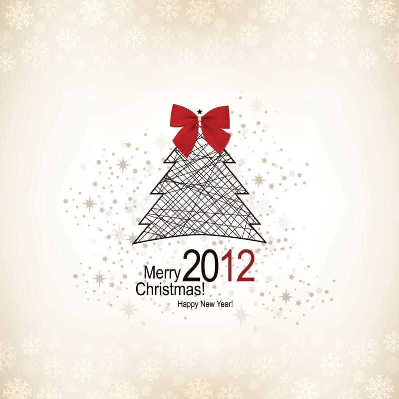 De groetkaart van Kerstmis vector illustratie
