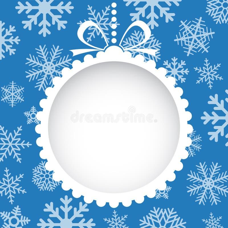De groetkaart van Kerstmis stock illustratie