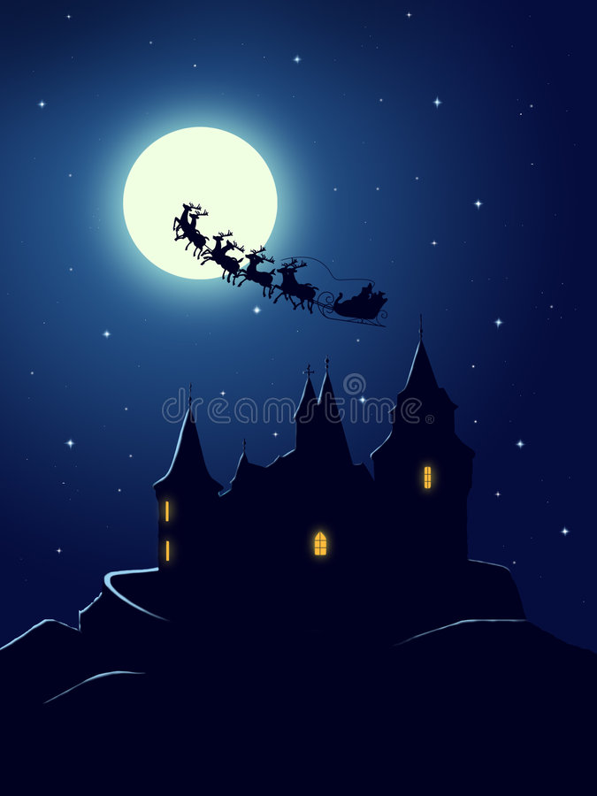 De groetkaart van Kerstmis royalty-vrije illustratie