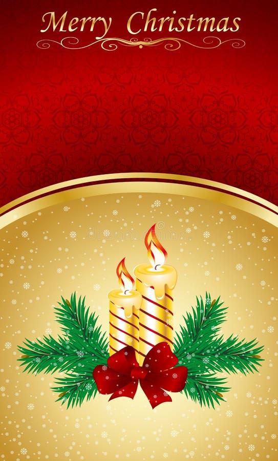 De groetkaart van Kerstmis & van het nieuw-Jaar vector illustratie