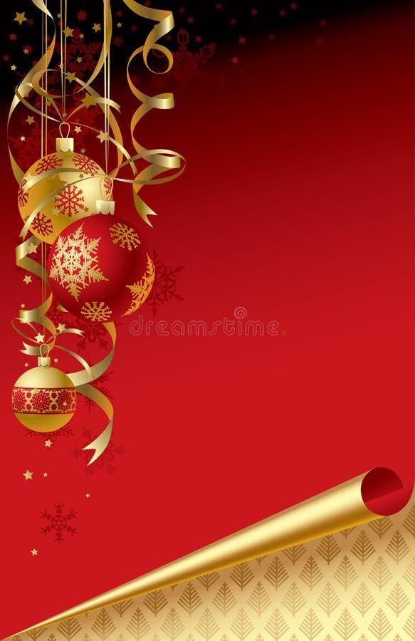 De groetkaart van Kerstmis & van het nieuw-Jaar stock illustratie