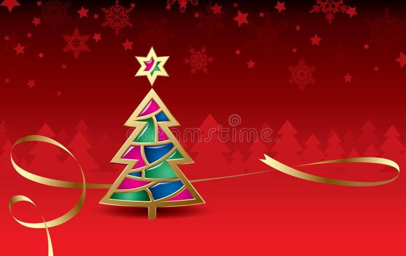 De groetkaart van Kerstmis & van het nieuw-Jaar royalty-vrije illustratie