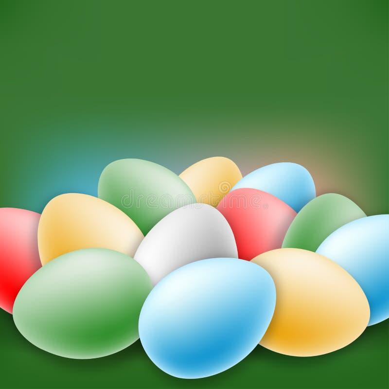 De groetkaart van Pasen vector illustratie
