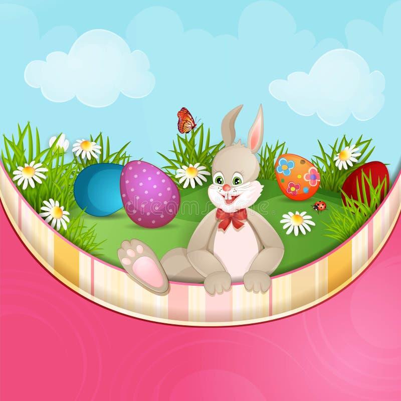 De groetkaart van Pasen stock illustratie