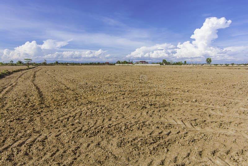 De grondaanpassing van het landgebied en terugwinningsproject stock afbeelding