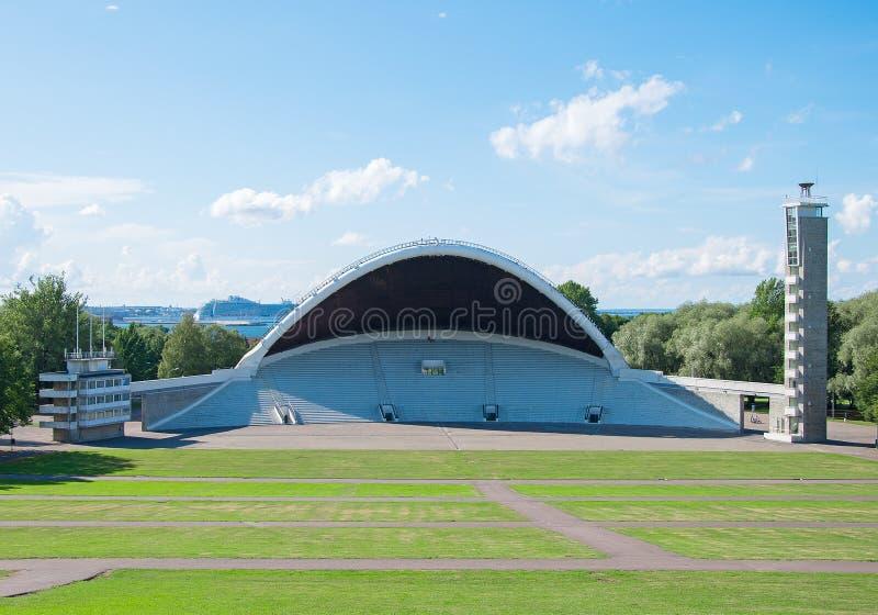 De Gronden van het het Liedfestival van Tallinn royalty-vrije stock foto's