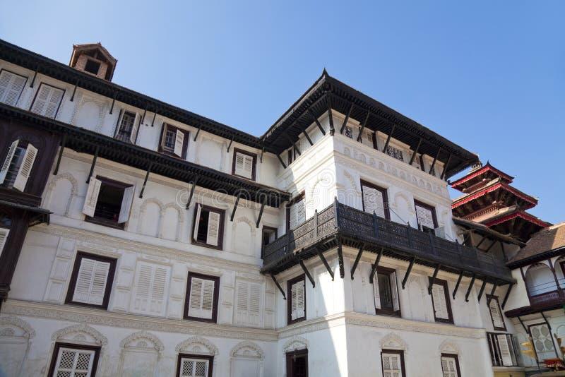 De Gronden van Royal Palace, Katmandu, Nepal stock foto