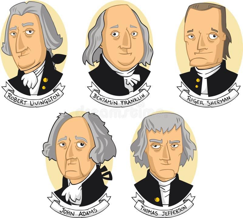 De grondleggers van de Verenigde Staten van Amerika royalty-vrije illustratie
