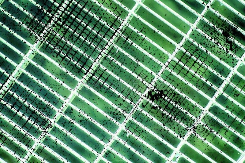 De grondrooster van het Grunge ultra groen Staal Roestvrij staaltextuur, achtergrond voor website of mobiele apparaten royalty-vrije stock foto's