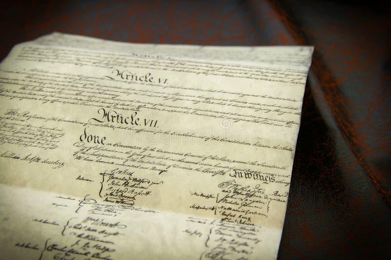 De grondwet stock fotografie
