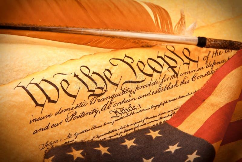De Grondwet van de V.S. - wij de Mensen stock foto's