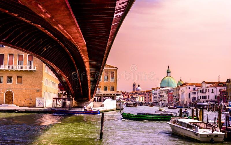 De Grondwetsbrug, Venetië royalty-vrije stock foto