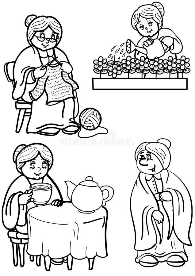 De grootmoeder stock illustratie