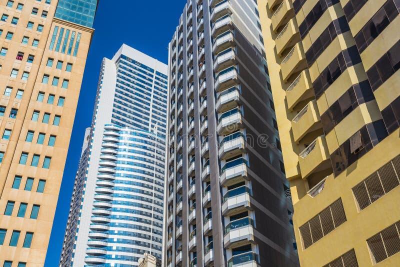 De grootste en meest dichtbevolkte stad van Sharjah - derde - in de V stock foto's