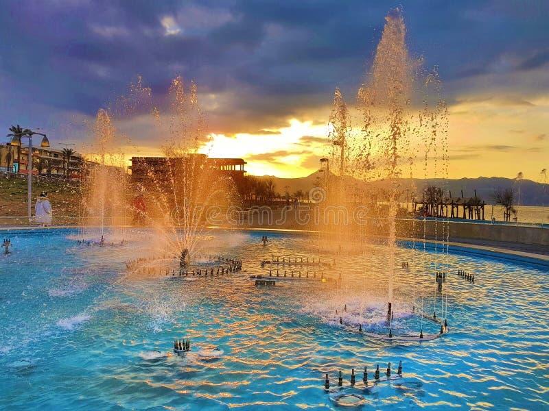 De grootste fontein van Balcanian stock fotografie