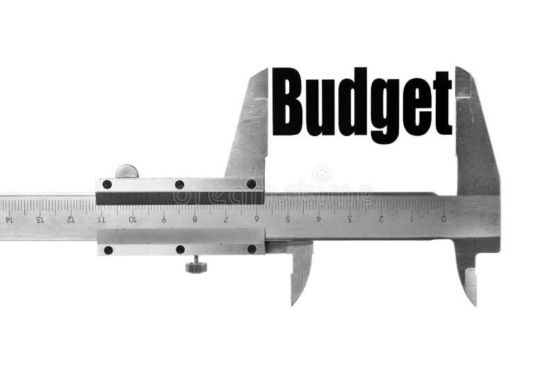 De grootte van onze begroting stock afbeelding
