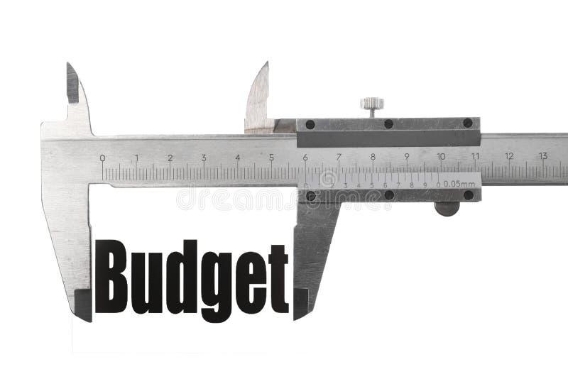 De grootte van onze begroting stock foto