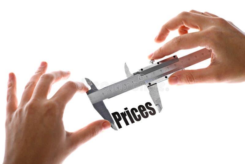 De grootte van onze prijzen stock foto's
