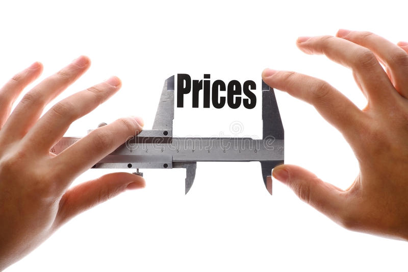 De grootte van onze prijzen stock afbeelding