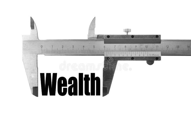 De grootte van onze rijkdom royalty-vrije stock fotografie